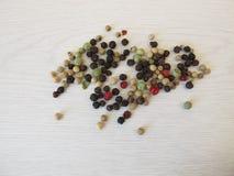Kleurrijke pepermengeling Stock Foto
