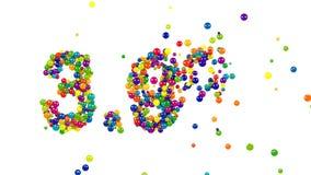 Kleurrijke 3 9 percentenpictogram voor bevorderingen stock illustratie