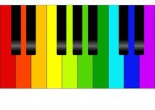 Kleurrijke piano Stock Foto's