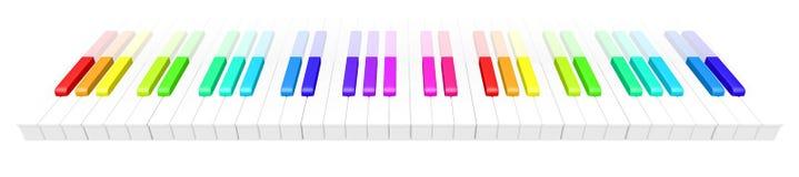 Kleurrijke piano Stock Foto