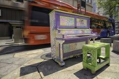Kleurrijke piano Royalty-vrije Stock Foto's
