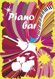Kleurrijke pianobar Royalty-vrije Stock Fotografie