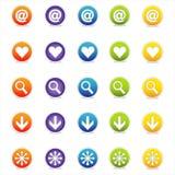 Kleurrijke Pictogrammen 1 van het Web (Vector) Stock Fotografie