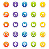 Kleurrijke Pictogrammen 3 van het Web (Vector) Stock Fotografie