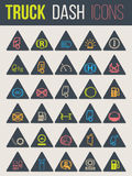 Kleurrijke pictogrammen voor vrachtwagendashboards 5 Stock Foto