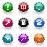Kleurrijke pictogramreeks Stock Fotografie