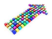 Kleurrijke pijl Stock Foto's