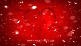 Kleurrijke Pijl met Harten voor Gelukkige Valentijnskaartendag De kaart van de liefde De vlieger of de druk van de huwelijksparti royalty-vrije illustratie