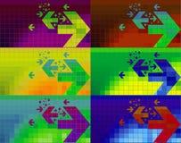 Kleurrijke pijlbanners als achtergrond Royalty-vrije Stock Afbeelding