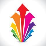 Kleurrijke pijlbeweging omhoog Stock Fotografie