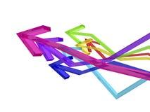 Kleurrijke pijlen Stock Fotografie