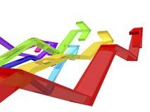 Kleurrijke pijlen Vector Illustratie