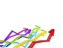Kleurrijke pijlen Stock Illustratie