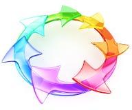 Kleurrijke pijlen royalty-vrije illustratie