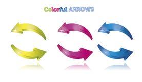 Kleurrijke pijlen Stock Foto