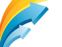 Kleurrijke pijlenachtergrond Stock Afbeelding