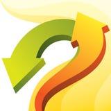 Kleurrijke pijlenachtergrond Stock Fotografie