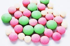 Kleurrijke pillen royalty-vrije stock foto's