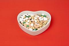 Kleurrijke pillen Stock Afbeelding