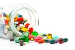 Kleurrijke pillen Royalty-vrije Stock Afbeelding