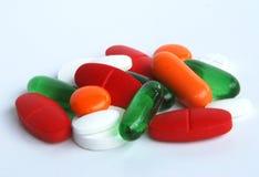 Kleurrijke Pillen Stock Foto