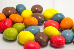 Kleurrijke pinda's Royalty-vrije Stock Foto