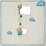 Kleurrijke plakboeklay-out Stock Afbeeldingen