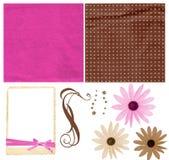 Kleurrijke plakboekuitrusting Stock Foto
