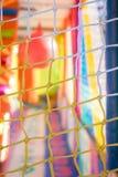 Kleurrijke plastic achtergrond van de speelplaats van de kinderen Stock Fotografie