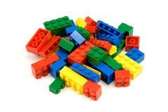 Kleurrijke plastic blokken Stock Foto