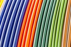 Kleurrijke plastic buizen Royalty-vrije Stock Fotografie