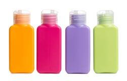 Kleurrijke Plastic fles op Witte achtergrond stock fotografie