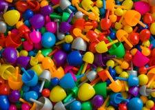 Kleurrijke plastic mozaïekspelden Royalty-vrije Stock Afbeeldingen