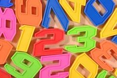Kleurrijke plastic nummer 123 Stock Foto's