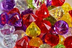 Kleurrijke plastic parelsmacro Stock Afbeelding