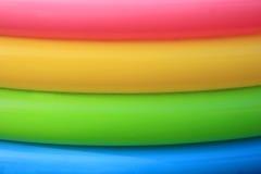 Kleurrijke Plastic Ringen Stock Afbeelding
