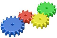 Kleurrijke plastic stuk speelgoed tandraderenbouw Royalty-vrije Stock Afbeelding