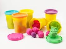 Kleurrijke plasticine Royalty-vrije Stock Fotografie