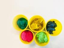 Kleurrijke plasticine Royalty-vrije Stock Afbeeldingen