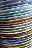 Kleurrijke platen royalty-vrije stock foto's
