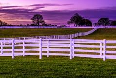 Kleurrijke plattelandsmening tijdens zonsondergang Royalty-vrije Stock Foto