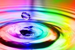 Kleurrijke plons Stock Foto