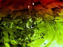 Kleurrijke plons Stock Fotografie