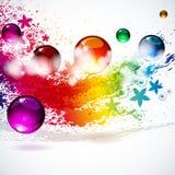 Kleurrijke plonsachtergrond Royalty-vrije Stock Foto