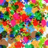 Kleurrijke Plonsenachtergrond Stock Afbeeldingen