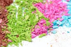 Kleurrijke poederoogschaduw Royalty-vrije Stock Foto