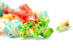 Kleurrijke popcorn royalty-vrije stock afbeeldingen