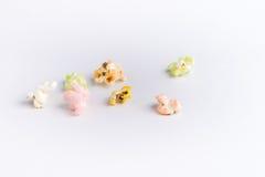 Kleurrijke popcorn Stock Fotografie