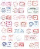 Kleurrijke poststempels Stock Foto
