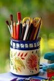 Kleurrijke potloden. Stock Afbeeldingen